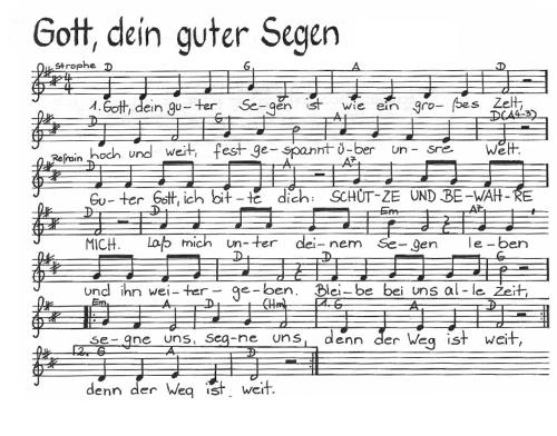 Guter kostenlos segen noten dein gott Songtext von